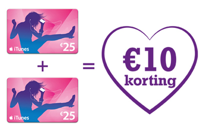 itunes giftcard korting