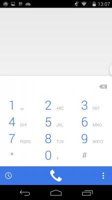 Dialer in Android 4.4.4